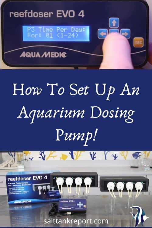 how to set up an aquarium dosing pump
