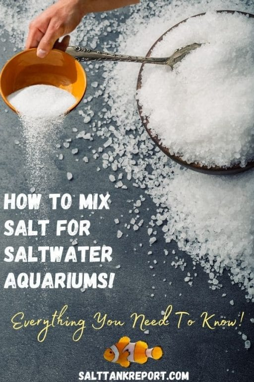 how to mix salt for saltwater tanks
